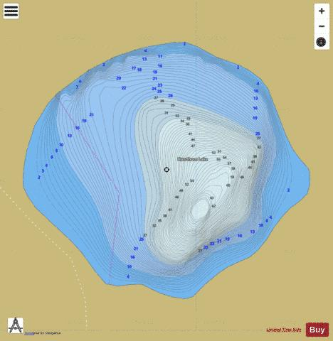 Hawthorn Lake Fishing Map - i-Boating App