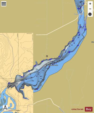 Hayward Lake Fishing Map - i-Boating App