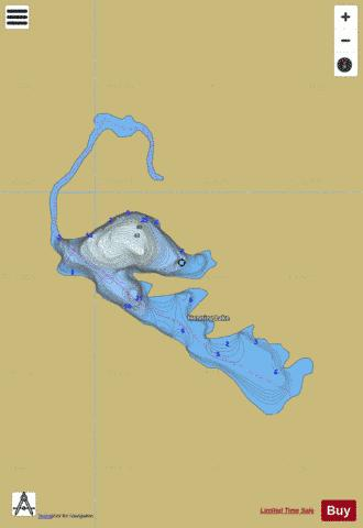 Henning Lake Fishing Map - i-Boating App
