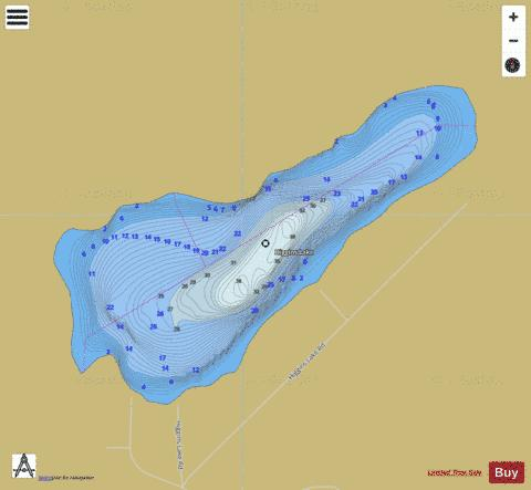 Higgins Lake Fishing Map - i-Boating App