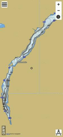 Hobson Lake Fishing Map - i-Boating App