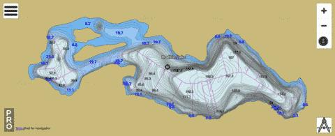 Hodkin Lake Fishing Map - i-Boating App