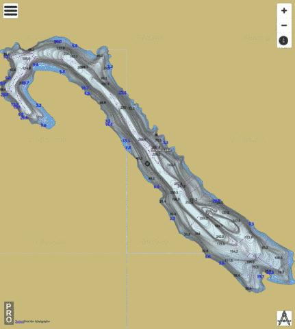 Hook Lake Fishing Map - i-Boating App