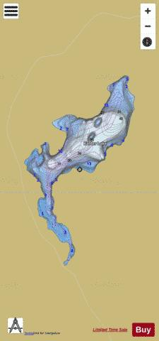 Kalder Lake Fishing Map - i-Boating App