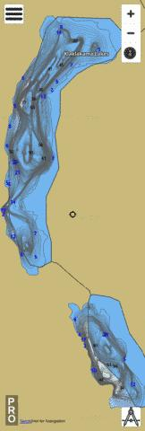 Klaklakama Lakes Fishing Map - i-Boating App
