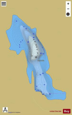 Lacy Lake Fishing Map - i-Boating App