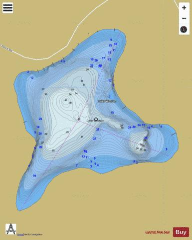 Lake Weston Fishing Map - i-Boating App