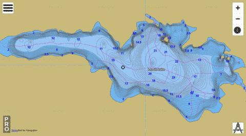 Lavoie Lake Fishing Map - i-Boating App