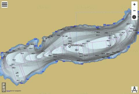Lindquist Lake Fishing Map - i-Boating App