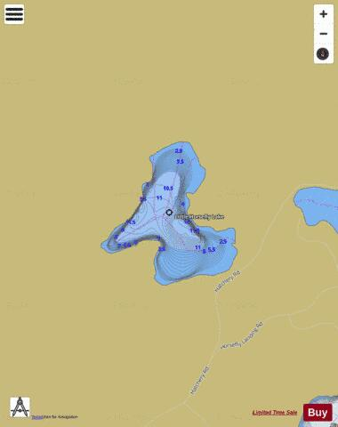 Little Horsefly Lake Fishing Map - i-Boating App