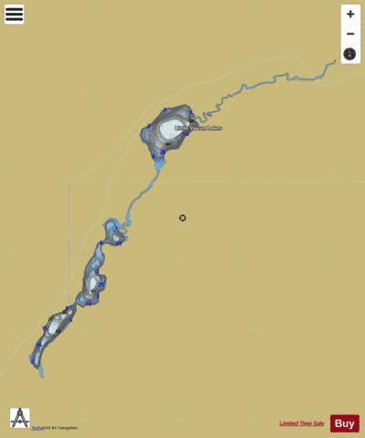 Lower Little Slocan Lake Fishing Map - i-Boating App