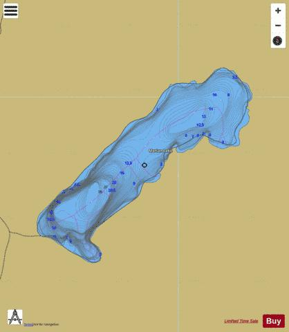 Marian Lake Fishing Map - i-Boating App