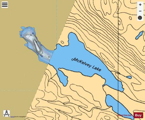 Mckelvey Lake Fishing Map - i-Boating App