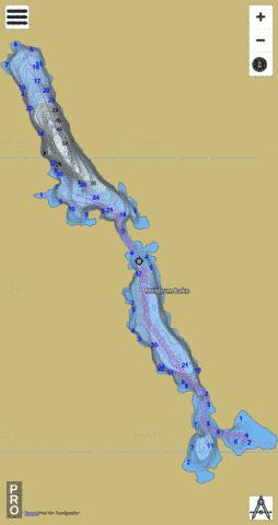 Meldrum Lake Fishing Map - i-Boating App