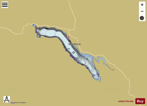 Meziadin Lake Fishing Map - i-Boating App