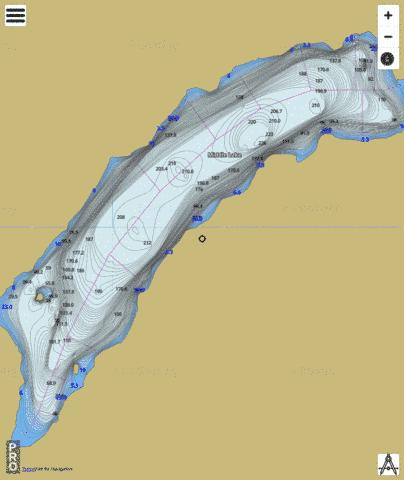 Middle Lake Fishing Map - i-Boating App