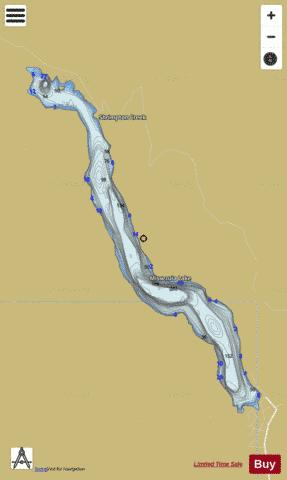 Missezula Lake Fishing Map - i-Boating App