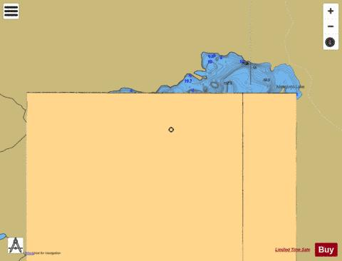 Mosquito Lake Fishing Map - i-Boating App