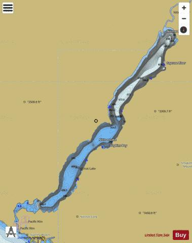Nitinat Lake Fishing Map - i-Boating App