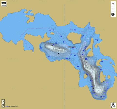Owen Lake Fishing Map - i-Boating App
