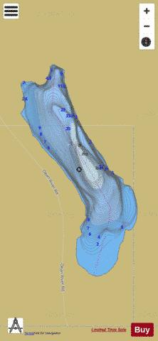 Poison Lakes (South) Fishing Map - i-Boating App