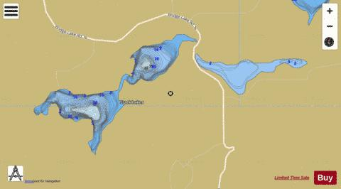 Stack Lakes Fishing Map - i-Boating App