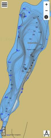 Power Lake Fishing Map - i-Boating App