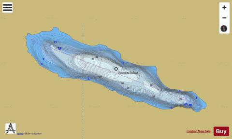 Prouton Lakes B Fishing Map - i-Boating App