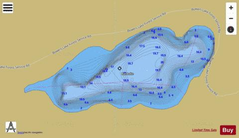 Rat Lake Fishing Map - i-Boating App