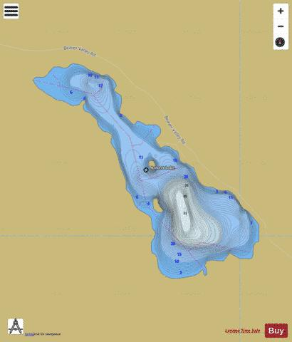 Robert Lake Fishing Map - i-Boating App