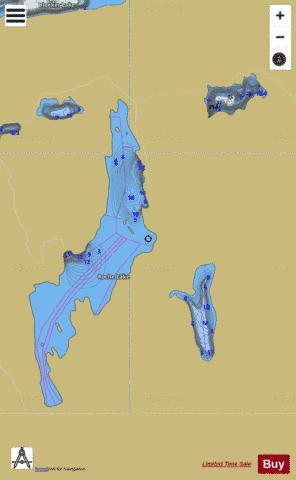 Roche Lake Group Fishing Map - i-Boating App