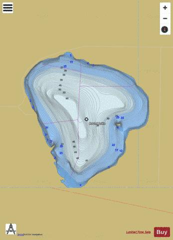 Round Lake Fishing Map - i-Boating App