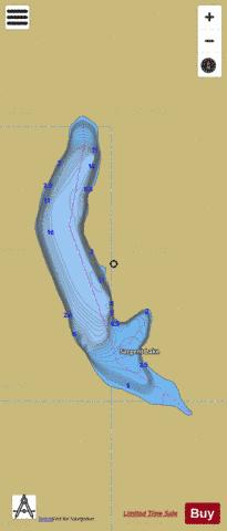 Sargent Lake Fishing Map - i-Boating App