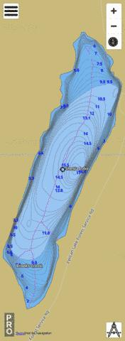 Shesta Lake Fishing Map - i-Boating App