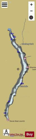 Slocan Lake Fishing Map - i-Boating App