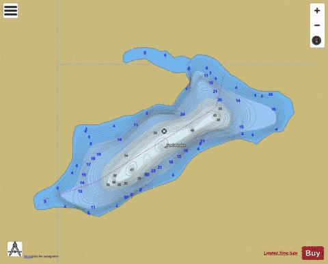 Soda Lake Fishing Map - i-Boating App
