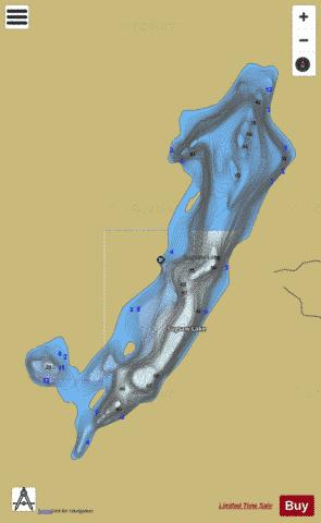 Sugsaw Lake Fishing Map - i-Boating App