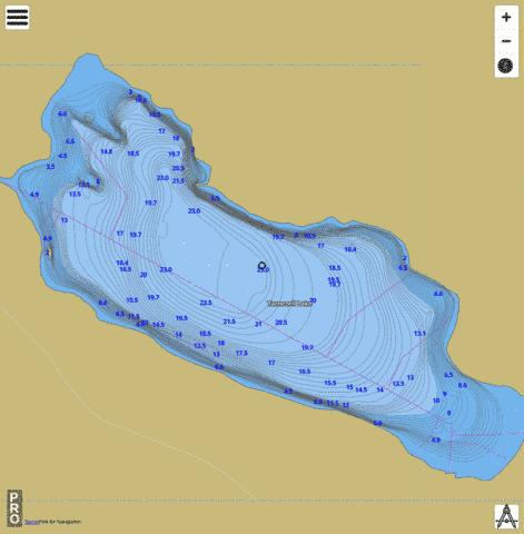 Tarnezell Lake Fishing Map - i-Boating App