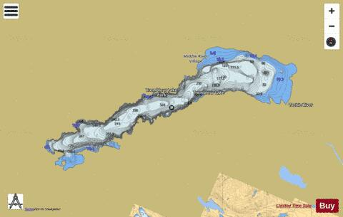 Trembleur Lake Fishing Map - i-Boating App
