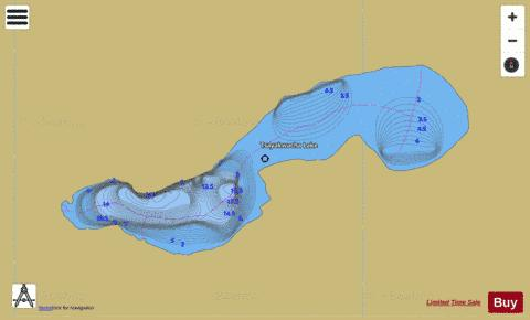 Tsayakwacha Lake Fishing Map - i-Boating App