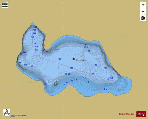 Twan Lake Fishing Map - i-Boating App