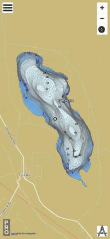 Tyhee Lake Fishing Map - i-Boating App