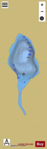 Unnamed Lake No 383 Fishing Map - i-Boating App