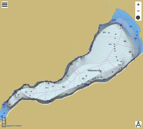 Whiteswan Lake Fishing Map - i-Boating App