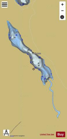 Wolfe Lake Fishing Map - i-Boating App