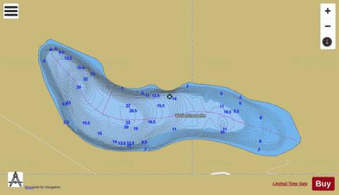 Wolverine Lake Fishing Map - i-Boating App