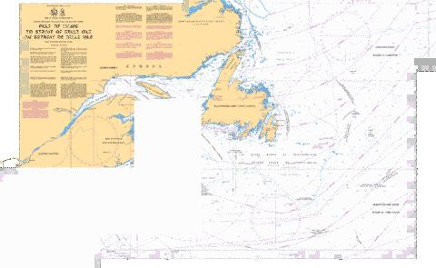 Gulf of Maine to\a Strait of Belle Isle including\y compris Gulf of St.Lawrence\ Marine Chart - Nautical Charts App