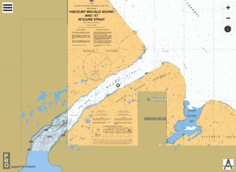 Prince of Wales Strait, Northern Portion/ Partie Nord Marine Chart - Nautical Charts App