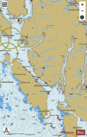 Caama\xF1o Sound and Approaches/et les approches (Part 2) Marine Chart - Nautical Charts App