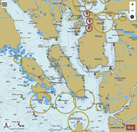 Principe Channel to/\xE0 Douglas Channel (Part 2) Marine Chart - Nautical Charts App